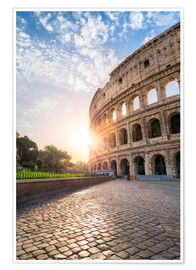 Premium poster The Colosseum in Rome at sunrise