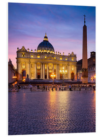 Foam board print  St. Peter's and St. Peter's Square in Rome, Italy - Jan Christopher Becke