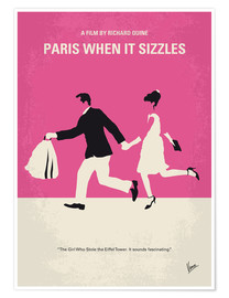 Premium poster No785 My Paris When it Sizzles minimal movie poster