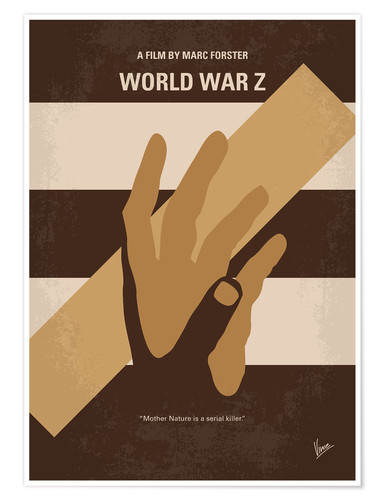 Premium poster No783 My World war Z minimal movie poster