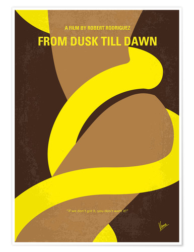 Premium poster No127 My FROM DUSK THIS DAWN minimal movie poster