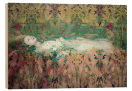 Wood print  Ophelia - David McConochie