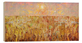Wood print  Cornfield Collage - David McConochie