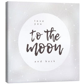 Canvas  Love you (to the moon and back) - Typobox