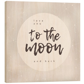 Wood  to the moon and back - Typobox