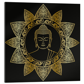 Acrylic print  Buddha in golden bloom