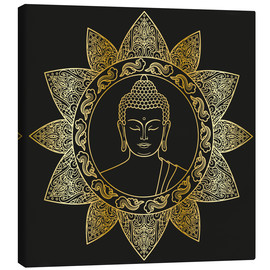 Canvas print  Buddha in golden bloom