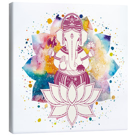 Canvas print  Ganesha in watercolors