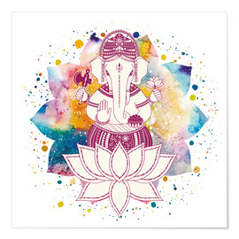 Premium poster Ganesha in watercolors