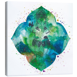 Canvas print  Ganesha on watercolors
