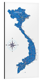 Aluminium print  Map of Vietnam