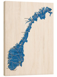 Wood  Map Norway