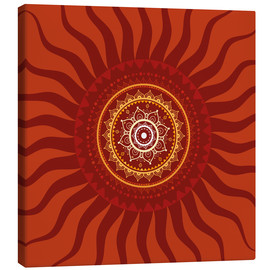 Canvas print  Sonnenmandala in Rot