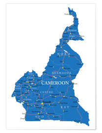 Poster Map Cameroon