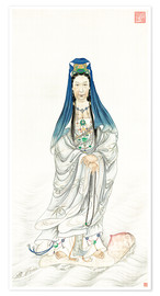 Premium poster  Empress Dowager Cixi as Guanyin  - Chinese School