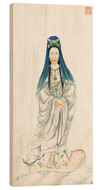 Wood print  Empress Dowager Cixi as Guanyin  - Chinese School