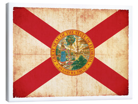 Canvas  Vintage Flag of Florida in grunge style - Christian Müringer