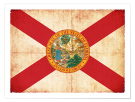 Christian Müringer - Vintage Flag of Florida in grunge style