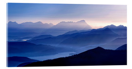 Acrylic print  Walchensee with Zugspitze in the evening light - Michael Rucker
