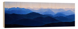 Wood print  Karwendel view - Michael Rucker