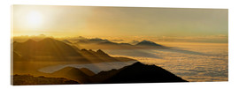 Acrylic print  Mountain peak over the clouds - Michael Rucker