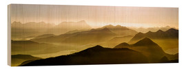 Wood print  Sunset over the Jachenau - Michael Rucker