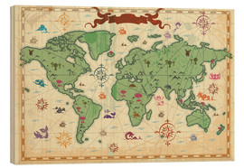 Wood  treasure map - Kidz Collection