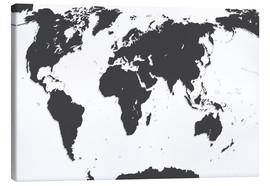Canvas  Relief World Map