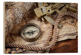 Wood print  Seafaring equipment