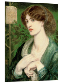 Foam board print  The Salutation of Beatrice - Dante Charles Gabriel Rossetti