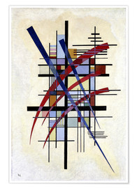 Poster  Sign with accompaniment - Wassily Kandinsky