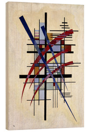 Wood  Sign with accompaniment - Wassily Kandinsky
