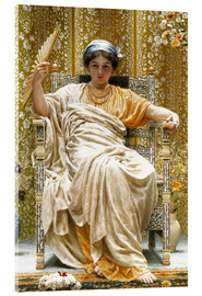 Acrylic print  A Revery- A Look of Sadness on a Restful Face - Albert Joseph Moore