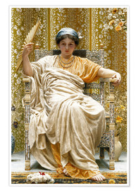 Premium poster  A Revery- A Look of Sadness on a Restful Face - Albert Joseph Moore