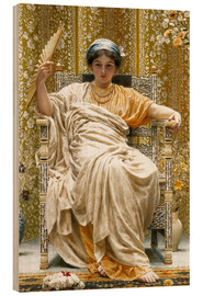 Wood print  A Revery- A Look of Sadness on a Restful Face  - Albert Joseph Moore