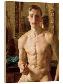 Wood print  The Boxer - Konstantin Andreevic Somov
