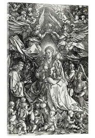Acrylic print  The Virgin and Child surrounded by angels - Albrecht Dürer