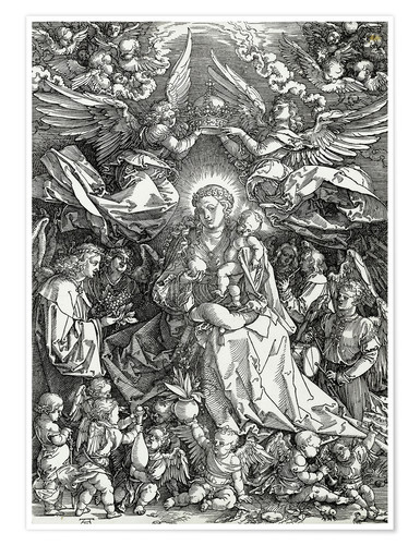 Premium poster The Virgin and Child surrounded by angels