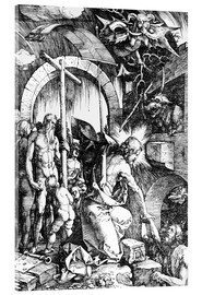 Acrylic print  The Harrowing of Hell or Christ in Limbo, from The Large Passion - Albrecht Dürer