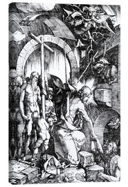 Canvas print  The Harrowing of Hell or Christ in Limbo, from The Large Passion - Albrecht Dürer