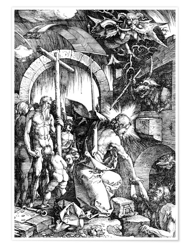 Premium poster The Harrowing of Hell or Christ in Limbo, from The Large Passion