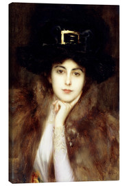 Canvas print  Portrait of an Elegant Lady - Albert Lynch