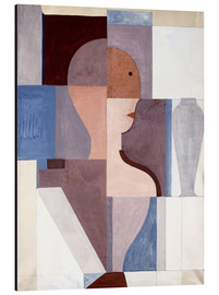 Aluminium print  Split Half Figure to the Right - Oskar Schlemmer