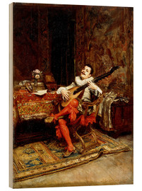 Wood print  The Lute Player - Jean-Louis Ernest Meissonier