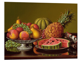 Foam board print  Still Life with Fruit  - Levi Wells Prentice