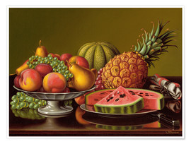 Poster  Still Life with Fruit  - Levi Wells Prentice