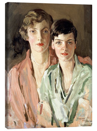 Canvas print  The sisters, Joan and Marjory - Sir John Lavery