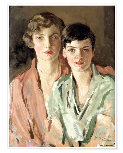 Premium poster The sisters, Joan and Marjory