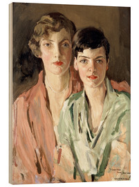 Wood print  The sisters, Joan and Marjory - Sir John Lavery
