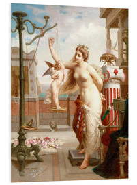 Foam board print  Weighing Cupid - Henri Pierre Picou